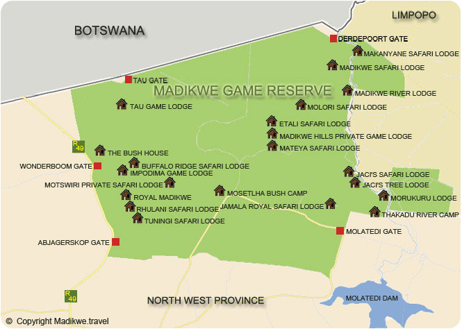 North West Province Map Image